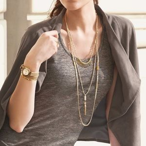 NWOT Stella & Dot Layering Trio Necklace